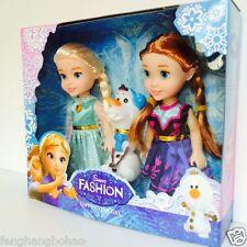 "Playset Frozen Princess Elsa&Anna&Olaf 7"" Doll Figures 3PCS Birthday Hot Gifts"