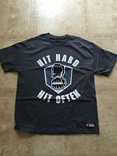 Roman Reigns WWE AUTHENTIC HIT HARD HIT OFTEN T-Shirt Extra LARGE XL New