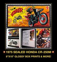 70s 1975 VTG Honda Elsinore CR250 motorcycle Mattel Big Jim Wolf Pack HOWLER MIB