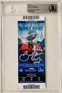 NE Patriots Julian Edelman Signed MVP Super Bowl LIII Ticket Beckett BAS Seat 13