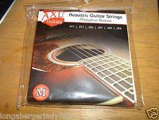 2 PACK AXL PHOSPHOR BRONZE ACOUSTIC GUITAR STRINGS MEDIUM STAGE STUDIO RECORDING