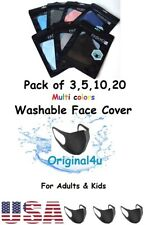 REUSABLE FACE MASK CLOTH WASHABLE BREATHABLE UNISEX FACE COVER 4 ADULTS & KIDS ✅
