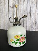 Vtg Ceramic Plant Mister Atomizer Sprayer Flowers 2 Diff Sides Shabby Cottage