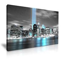 NEW YORK CITY Manhattan 1 WTC Skyline Canvas Wall Art Picture Print 76x50cm