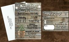 Wedding Invitations Baby Breath Rustic Farm Country Western Country Invites