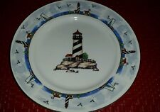 Vintage Discontinued Totally Today Coastal Lighthouse Bread & Butter Plate