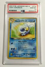 Pokemon: Japanese Light Vaporeon 134 Neo Destiny PSA 10 Gem Mint