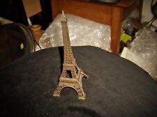 "COLLECTABLE PARIS EIFFEL TOWER SOUVENIR ORNAMENT BRONZE TONE METAL 7.5"" HIGH"