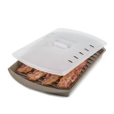 Prep Solutions By Progressive Microwave Small Bacon Grill With Lid