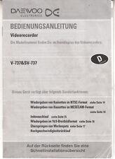 """""""manual de instrucciones para daewoo v-737/sv-737 (grabadora de vídeo)"""""""
