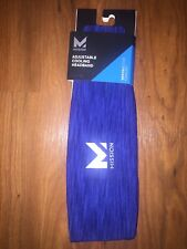 Mission Vaporactive Adjustable Cooling Headband Royal Blue New