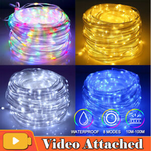 100-800 LED Mains Fairy String Lights Christmas Tree Party Outdoor Garden Lights