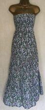 OASIS 💚 Multi Floral Print Halterneck Cotton Casual Long Dress, Size 10-12