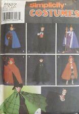 Simplicity Costume Pattern 5927 Children's Robes Capes Crowns Hat Sizes S M L