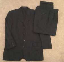 """Simon Berwin Mens Navy Wool 2 Piece 4 Button Suit 40""""S Jkt 34""""S Trousers"""
