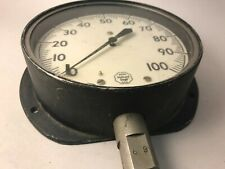 "New listing Vintage Helicoid 6"" 0-100 Psi Pressure Gauge Gage -Usa Steampunk Art"