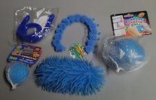 Sensory play autism calming BLUE fidget toy box stretch squeeze stress relief