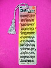 """""""Rainbow Bridge""""  Pet Loss Poem on a Tassel Bookmark - (blue tassel sku#-977)"""