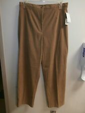 NEW JM Collection 16 Faux Suede SOFT Beige CAMEL Brown Womens Pants NWT