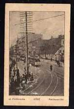 107910 AK Lodz Lodsch Petrikauer Straße Straßenbahn 1915