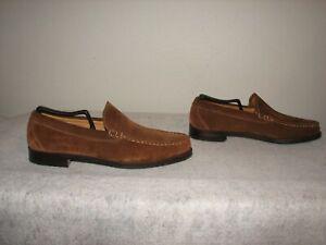 Allen Edmonds Keens Men Brown Suede Leather Loafer Shoes 10 B NEW