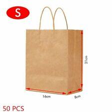 Bulk Kraft Paper Bags Craft Gift Shopping Bag Carry Brown Bag With Handles 50x