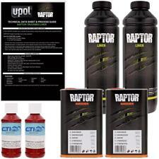 U-POL Raptor Blood Red Urethane Spray-On Truck Bed Liner & Texture Coating, 2L