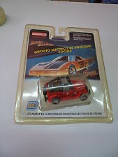 MARCHON 22171 RED JEEP SLOT CAR HO MR1 RACING - FALLER - TYCO - FAMOPLAY.