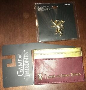 Official Game of Thrones Card Holder I Drink and I Know Things & Lapel Pin New