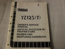 YAMAHA YZ125T OWNERS SERVICE MANUAL 2HG 28199 80  2