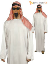 Adult Arab Costume Party Fancy Dress Traditional White Tunic Large Chest Size to 44''