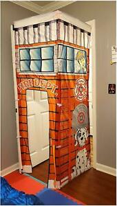 Firefighter Fire Station Doorway Fort Attach to Door Play Tent Cortex Toys