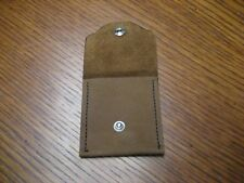 Brown leather misc pouch / coins, etc. NEW