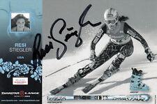 Resi Stiegler (estados unidos) ski alpin slalom original firmado/signed!!!