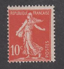 Timbre de France - Neuf sans charnière ** Semeuse N° 134f Type II - Rouge sombre