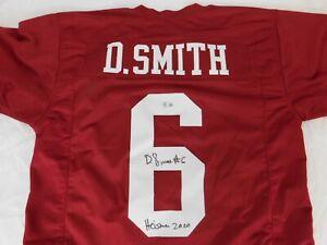 DeVonta Smith Signed Custom Crimson Jersey Heisman 2020 Beckett COA Stitched