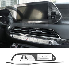 Navigation Center Fascia 5D Carbon Decal Sticker For HYUNDAI 2019-2020 Palisade