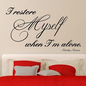 Marilyn Monroe Wall  Art Quote Wall Stickers UK SH104