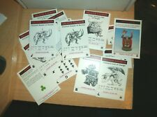 Games Workshop 6mm Epic 40K  CHAOS SPACE MARINE ARMY CARDS