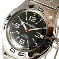 VOSTOK Amphibia Automatik Uhr Taucher 200m 2416B / 100315 Russische Uhren Diver