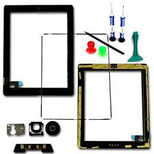Touch Screen Digitizer Glass Frame Bezel Home Button Flex For iPad 2 Black Tools