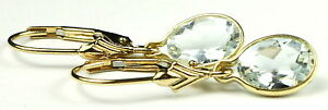 Aquamarine, 14KY Gold Leverbacks, E001