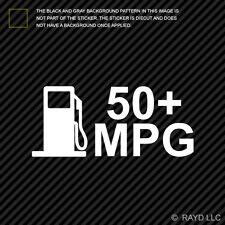 (2x) 50 MPG Sticker Die Cut Decal Self Adhesive Vinyl jdm euro hybrid mileage