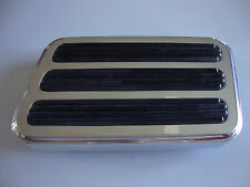 POLISHED ALUMINUM BRAKE PEDAL PAD RECTANGLE FITS CHEVY FORD HOT ROD #8500POL