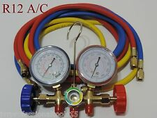 A/C Manifold Gauge Set  R12 R22 R502 HVAC AC Refrigeration Testing Charging Kit