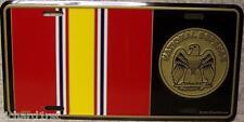 Aluminum Military License Plate Medal National Defense