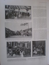 Printed photos outside the Opera House Bastille Day Paris France 1904