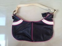Black leather handbag from GAP