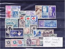 ITALIA REPUBBLICA 1951 ANNATA COMPLETA  29 VALORI USATI SELEZIONATI SPLENDIDI