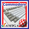 COMMODORE AMIGA 2000; A3000; A4000 KEYBOARD REPLACEMENT KEY CAPS with WHITE PEGS